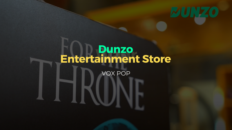 Dunzo x Entertainment store - VOX POP Video thumbnail